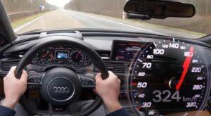 Audi RS 6 Avant com 700 cv mostra o que acontece quando o ponteiro chega ao fim do velocímetro thumbnail