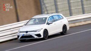 Nova Volkswagen Golf R carrinha apanhada em Nürburgring quase sem camuflagem thumbnail