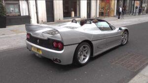 Ferrari F50 com escape direto solta o rugido do motor V12 thumbnail