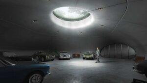 Estúdio de design cria garagem subterrânea bem ao estilo de James Bond thumbnail